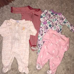 Other - Lot of four 0-3 month old footies